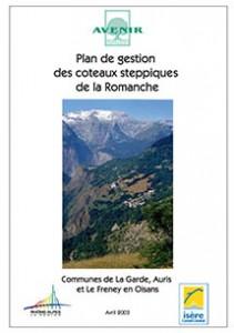 Coteaux steppiques de la Romanche : Plan de gestion 2003