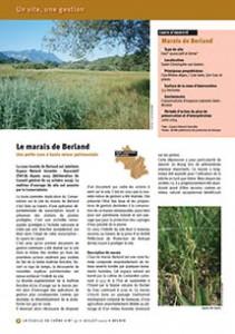Le marais de Berland : une petite zone à haute valeur patrimoniale