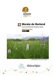 Marais de Berland - Notice de gestion - janvier 2010