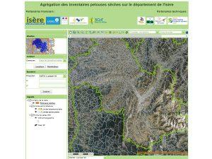 Cartographie des pelouses sèches de l'Isère